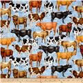 Bountiful Farm Animals Blue