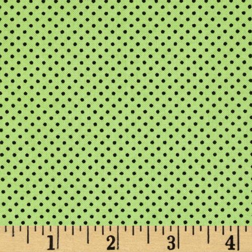 Happy Haunting Dots Green