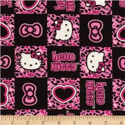 Hello Kitty Cheetah Patch Pink/Black