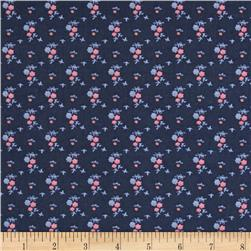Cotton Lawn Floral Blue