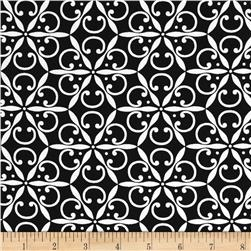 Jet Setter Medallion Black Fabric