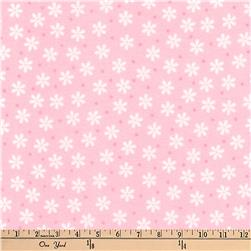 Kaufman Cozy Cotton Flannel Daisies Rose