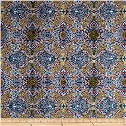 Telio Morocco Blues Stretch Poplin Celtic Print Multi