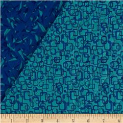 Graphix 3 Quilted Link Squares Turquoise