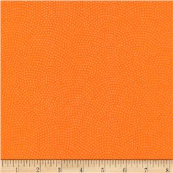 Timeless Treasures Dreaming in Pearle Dots Tangerine