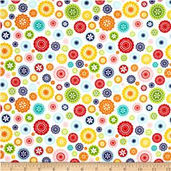 Riley Blake Lazy Day Flannel Floral White Fabric
