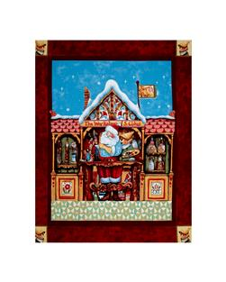 Jim Shore Santa Elf 34 In. Panel Red