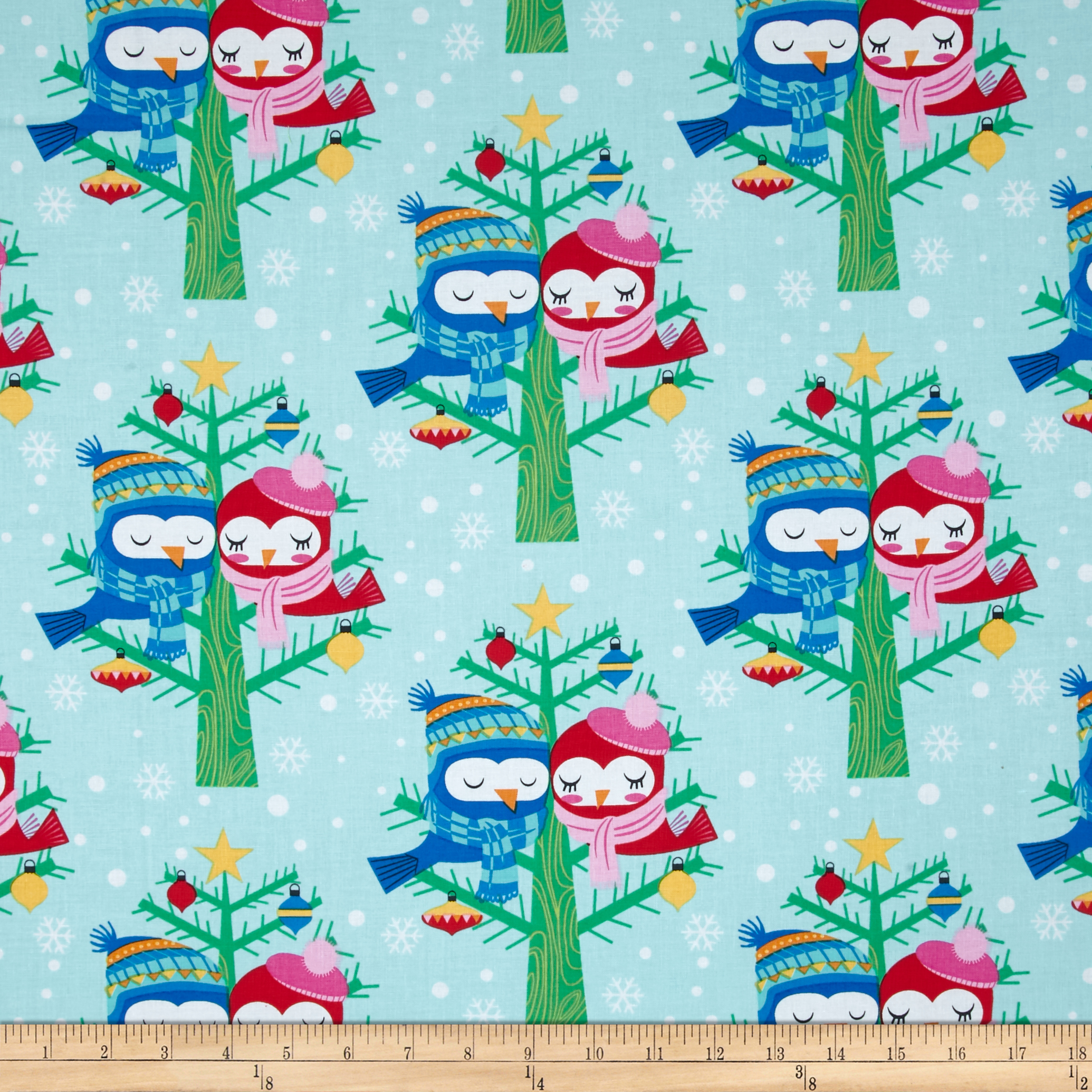 Michael Miller All the Trimmings Christmas Lovebirds Winter Fabric