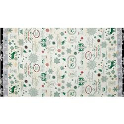 Lecien Happy Holidays Double Border Cream/Green
