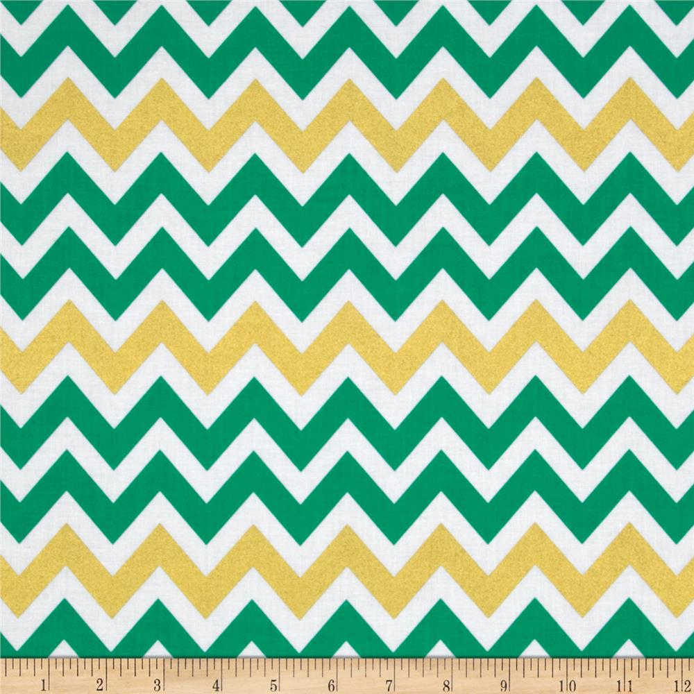 Remix Metallic Large Chevron Kale