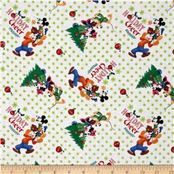 Disney Christmas Mickey & Friends Trim the Tree White