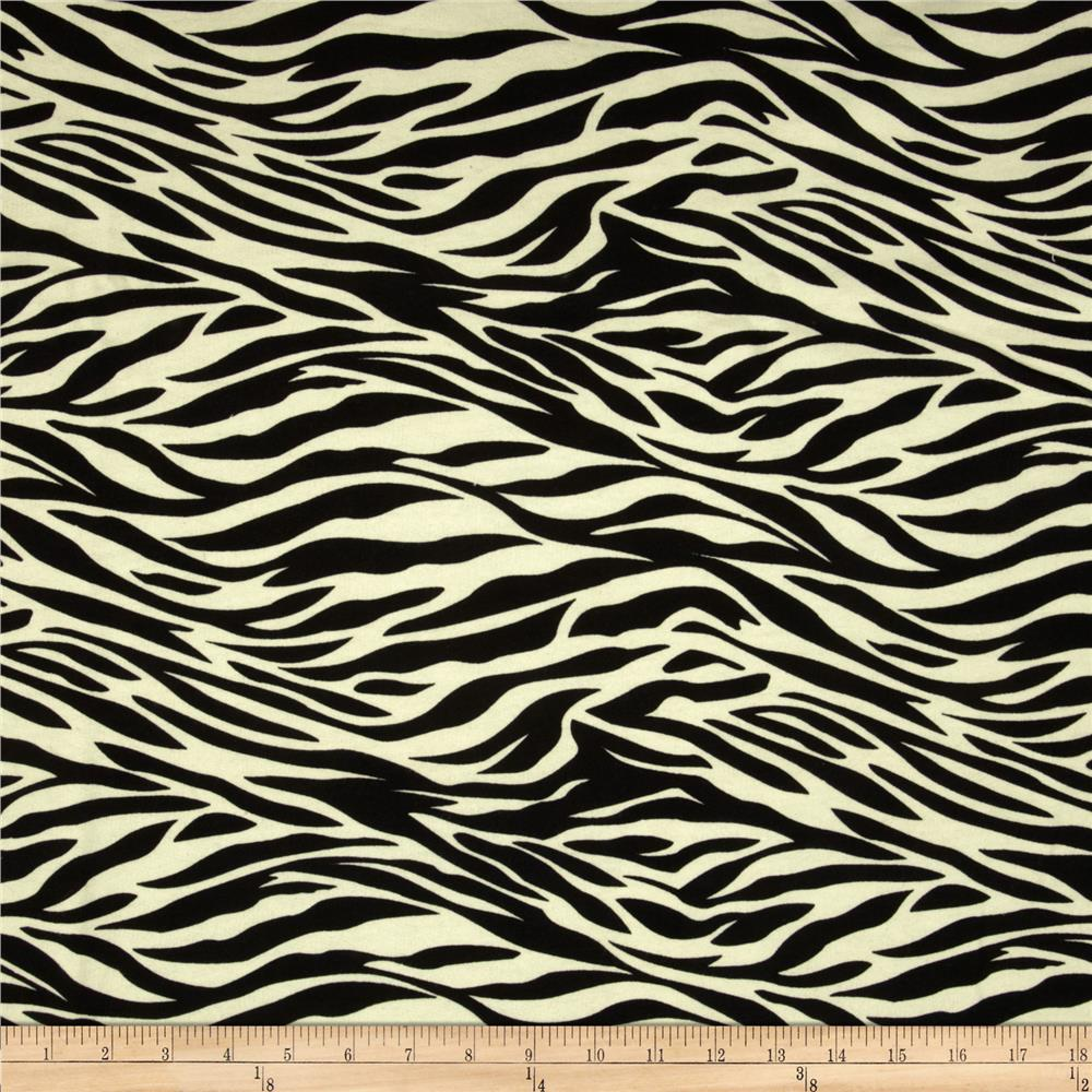 Designer French Terry Zebra Black/Cream