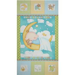 Sweet Pea Sleepytime 24'' Panel Blue