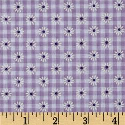 Woven 1/8'' Daisy Gingham Lilac