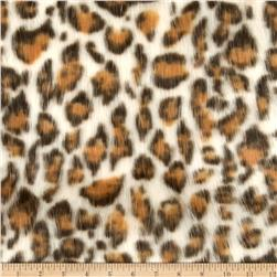 Faux Fur Eyelash Leopard White