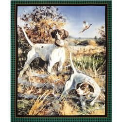 Wild Wings Point North Dog Wall Panel Multi