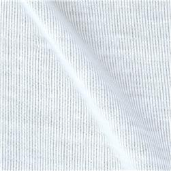 Stretch Baby Rib Knit White