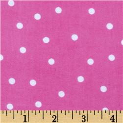 Essentials Flannel A Dot is a Dot Pink
