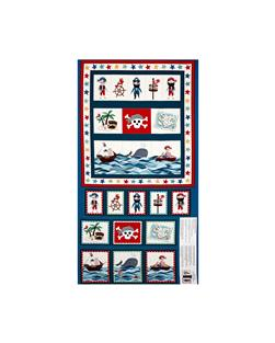 Pirates Pirate Pockets Panel Blue