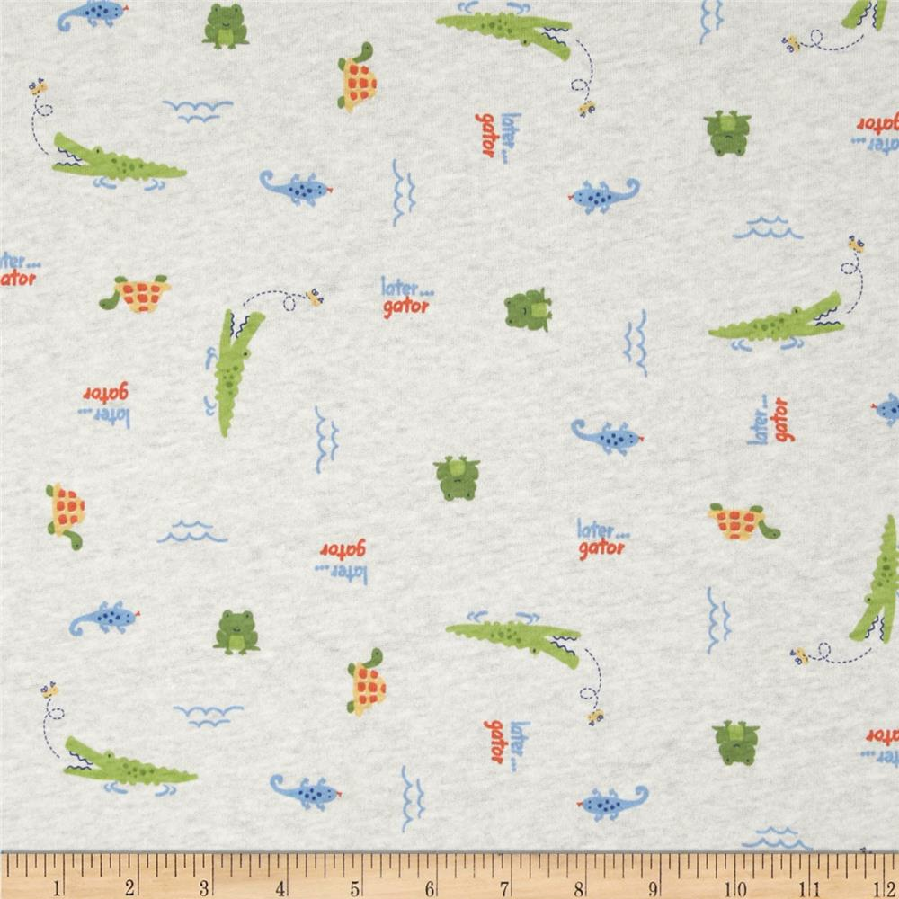 Cotton jersey knit latergater green blue discount for Knit fabric childrens prints