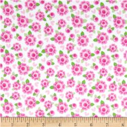 Riley Blake Lovey Dovey Flannel Roses Pink
