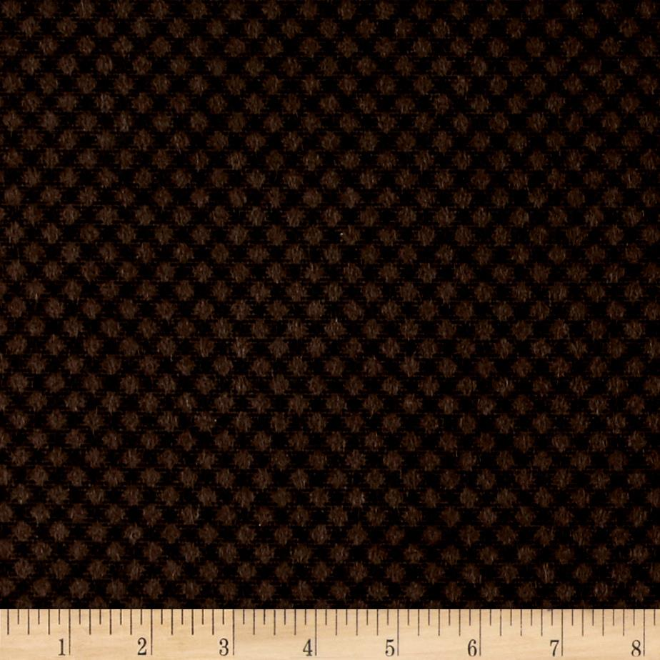 Cozies Flannel Large Check Brown Fabric