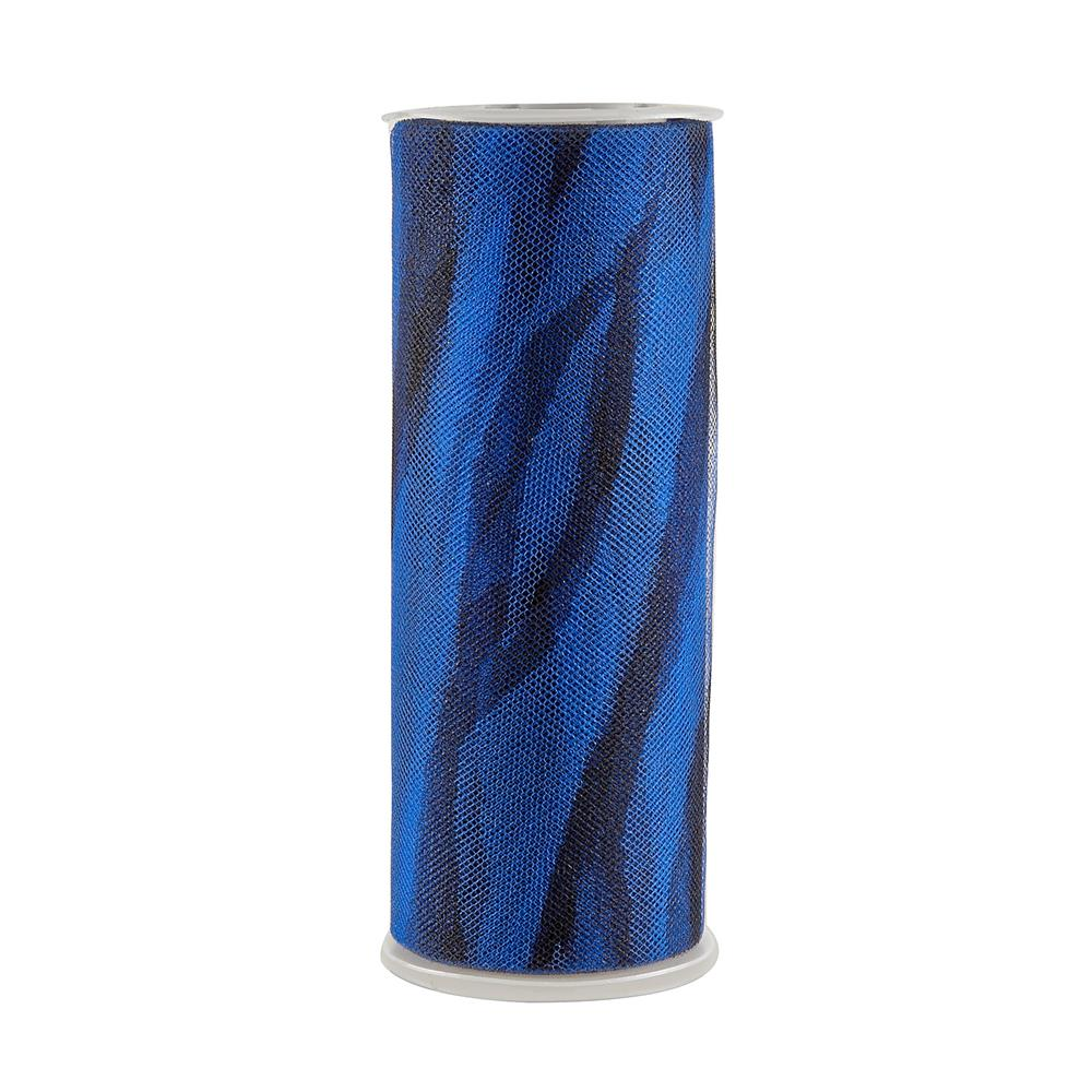 Tulle Spool Zebra Stripe Royal Blue