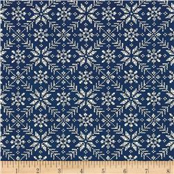 Moda Nordic Stitches Eight Leaf Rose Bla