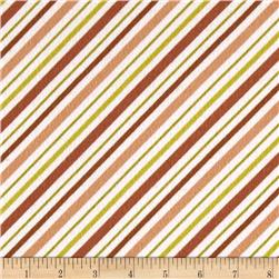 Riley Blake Happy Camper Flannel Stripe Brown