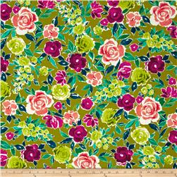 Ink & Arrow Zola Large Floral Dark Avocado