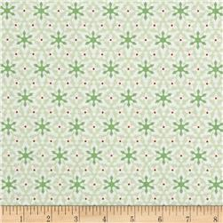 Contempo Nordic Holiday Small Snowflakes Light Green