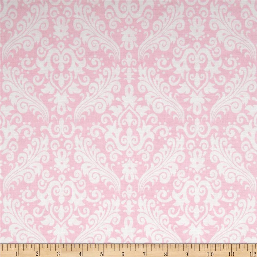 Riley Blake Medium Damask Baby Pink