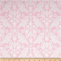Riley Blake Medium Damask Baby Pink Fabric