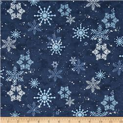 Ccreatur Comforts Snowflakes Light Navy