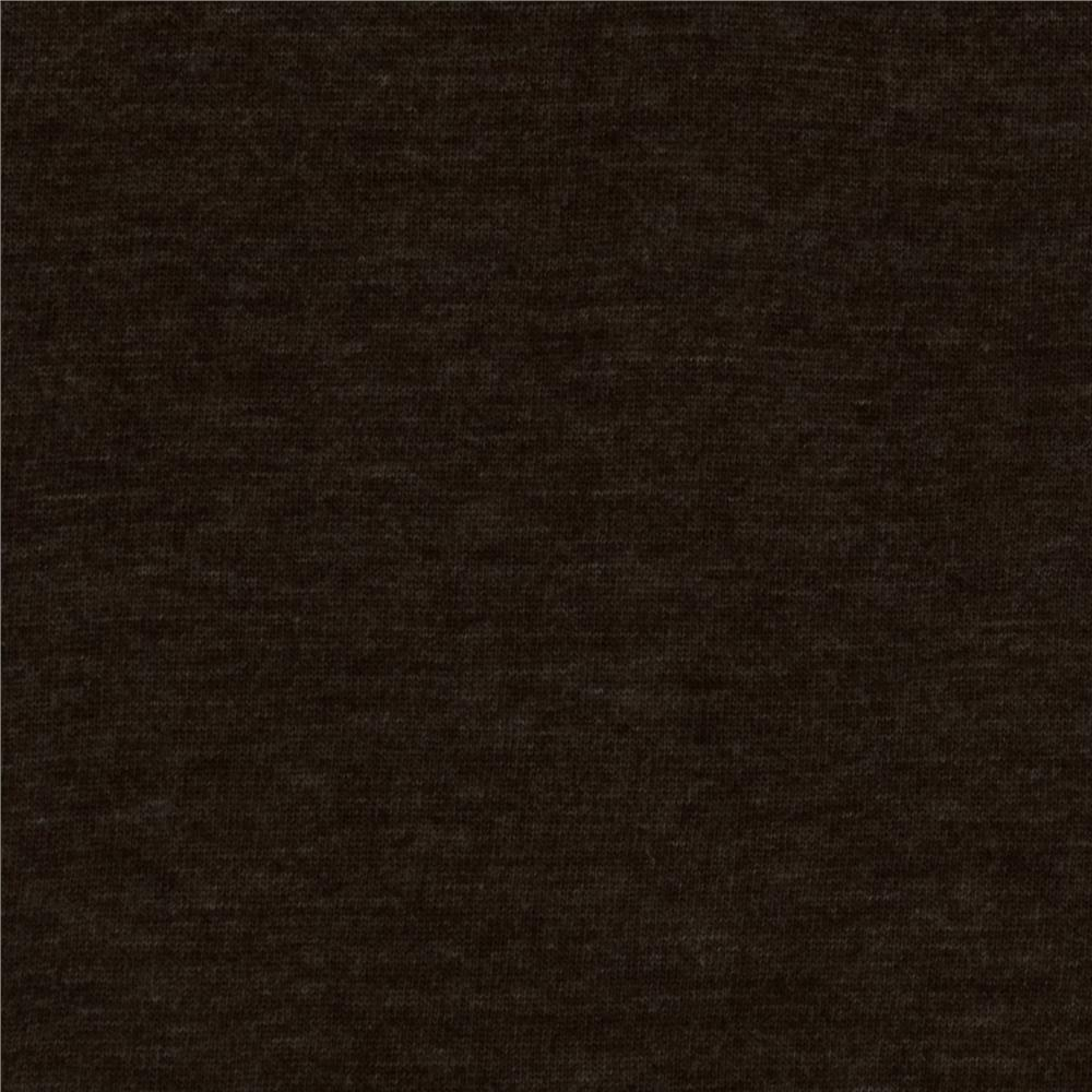 Rayon Blend Jersey Knit Heather Brown