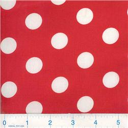 Forever Large Polka Dots Red/White