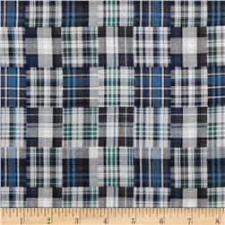 Designed Yarn Dyed Double Cloth Shirting Plaid Blue/Green