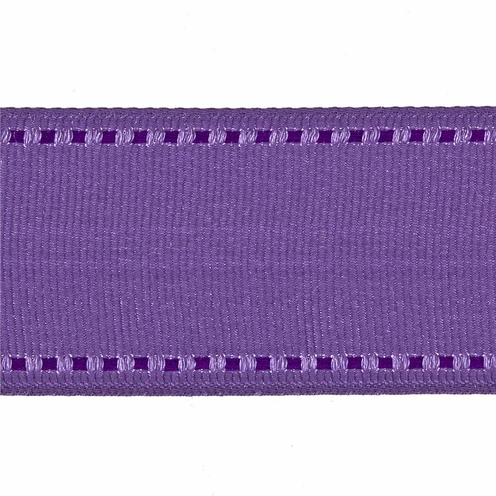 "1 1/2"" Grosgrain Stitched Edge Ribbon Lavender/Purple"