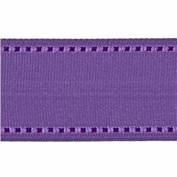 1 1/2'' Grosgrain Stitched Edge Ribbon Lavender/Purple