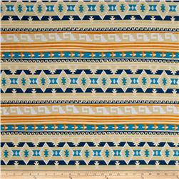 Ethnic ITY Prints Stone/Teal/Orange