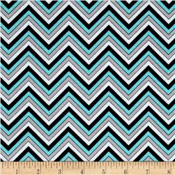 Ink Blossom Chevron Turquoise