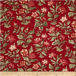 Moda Under the Mistletoe Flourish Crimson