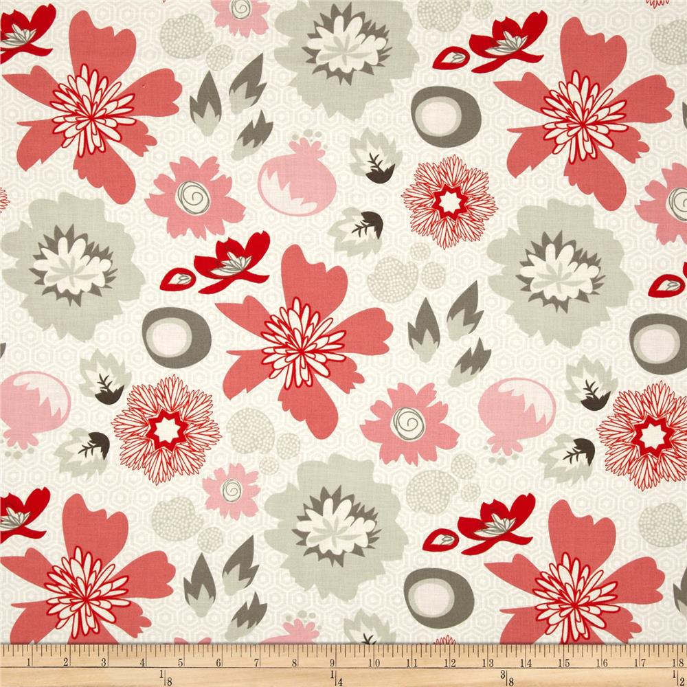 Riley Blake Lost and Found 2 Floral Red