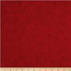 "110"" Wide Flannel Quilt Backing Willow Red"