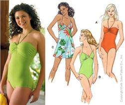 Kwik Sew Misses Dresses and Swimsuits Pattern