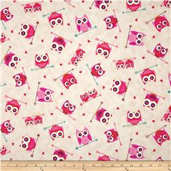 Love's All Around Owl Valentine Cream