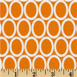 Remix Dots Tangerine Fabric