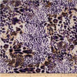 Printed Fleece Cheetah Patch Purple