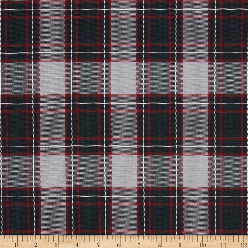 School Uniform Plaid Grey/Black