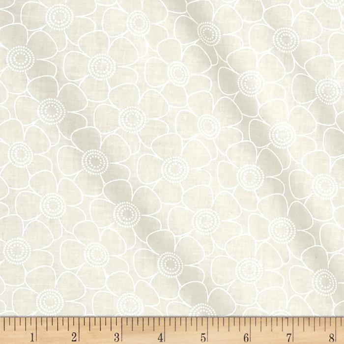 108'' Contempo Quilt Back Daisy White/Tint Fabric By The Yard